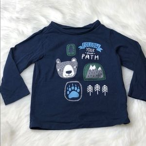 18m long sleeved Follow your path tee shirt baby